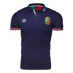 British Irish Blue Cotton Polo Shirt